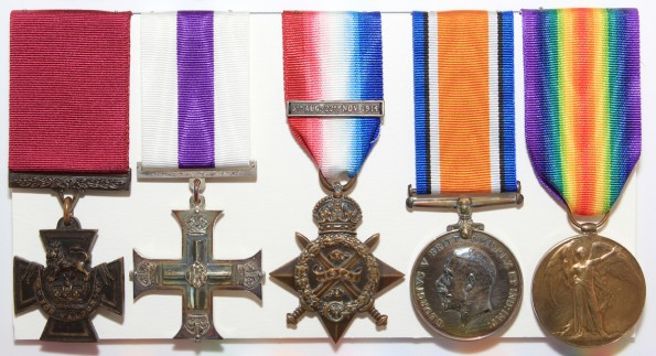 Lt Col Roland Bradford's Victoria Cross and other medals