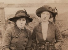 BAMLETT SISTERS: Margaret and Elizabeth, of The Poplars, Haughton. They lost their brothers in the First World War, and Margaret's husband