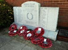 IN MEMORY: The war memorial in Sherburn Village