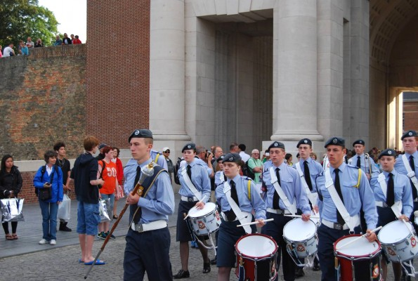 MENIN GATE: The cadet band on parade during the Last Post ceremony at the Menin Gate