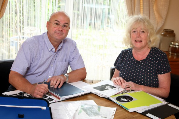 WAR RESEARCH: David and Sandra Pullan, of Gainford, are researching the history of Gainford soldiers who died during the First World War. Picture: TOM BANKS