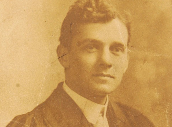 George McKean VC in his university days in Canada
