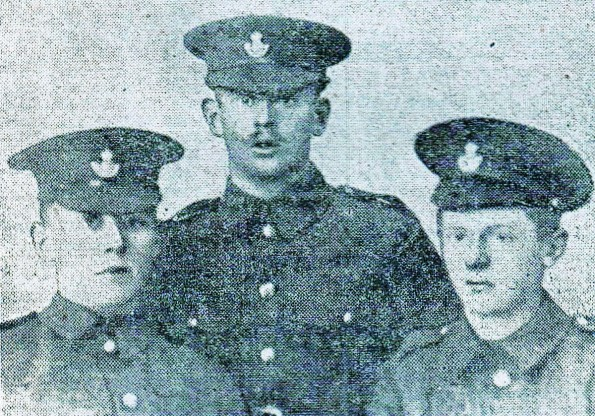 BROTHERS IN ARMS: Robert, William and Thomas Bamlett, of Haughton. Only Thomas survived