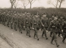 ON THE MARCH: 18th Battalion, Durham Light Infantry on a route march in County Durham during training at the end of 1914. Picture: Durham Record Office DRO: D/DLI 2/18/24(25)