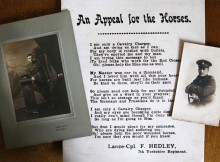 WAR POEM: A poem writtten by Maureen Blair's great uncle Francis Hedley has been discovered. Picture: SARAH CALDECOTT