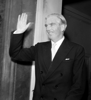 SUEZ CRISIS: Sir Anthony Eden in 1956 when he was Prime Minister at the height of the Suez Crisis.