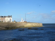 TRANQUIL SCENE: The lighthouse and the Heugh battery at Hartlepool today