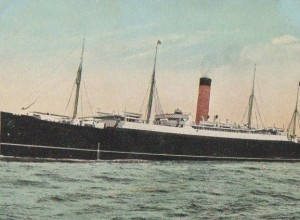 The SS Ivernia, which carried the Durham Pals from Egypt to France