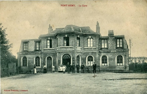 Pont Remy railway station, pictured at the turn of the century, where the Durham Pals arrived 100 years ago this week after a two-hour train journey through the length of France