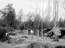 DEPRESSING: A New Zealand field hospital in the woods at Bus Les Artois, where the Durham Pals were billeted after their first taste of life in the trenches