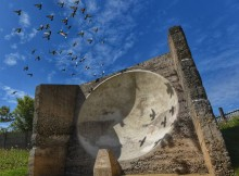 UNIQUE: The Fulwell Acoustic Mirror, which was built to help detect German airships following a series of Zeppelin raids on the North-East coastline during 1915 and 1916