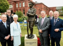 Tom Dresser, sculptor Brian Alabaster, Rita Dresser, Brian Dresser, Middlesbrough Deputy Mayor Charlie Rooney, Paul Dresser
