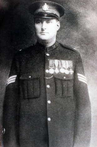 CROIX DE GUERRE: James Graham wearing his WWI medals.
