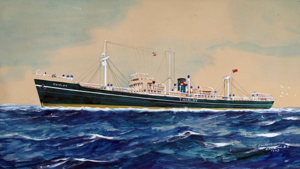 THIRD THIRLBY: Dave Chapman's picture, which was painted in 1947 by crew member JW Hardcastle in Canada
