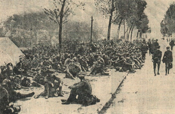 This picture from The Northern Echo of June 27, 1916 - or X-Day - was taken during the build-up to the Battle of the Somme. Soldiers wait in roadside bivouacs