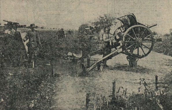 AERIAL ATTACK: This picture, published in The Northern Echo on June 24, 1916 - or U-Day - shows how an artillery piece has been adjusted in a bid to fire at German planes