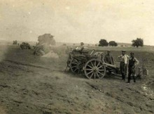 ACTIVE GUNS: German soldiers fire their 77m field guns – the nortorious 'Whizz Bangs' George heard