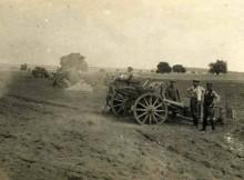 ACTIVE GUNS: German soldiers fire their 77m field guns – the nortorious 'Whizz Bangs' George heard