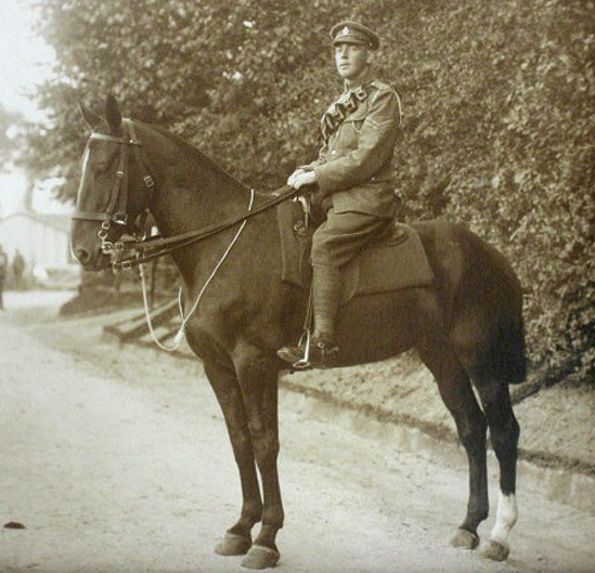 MAN OF WAR: Corporal Stanley Clarkson on horseback in France during the war