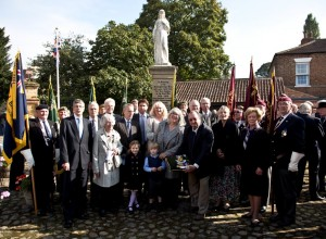 PROUD: The relatives of Archie White VC who attended the ceremony Pictures: Tom Wharton Photos
