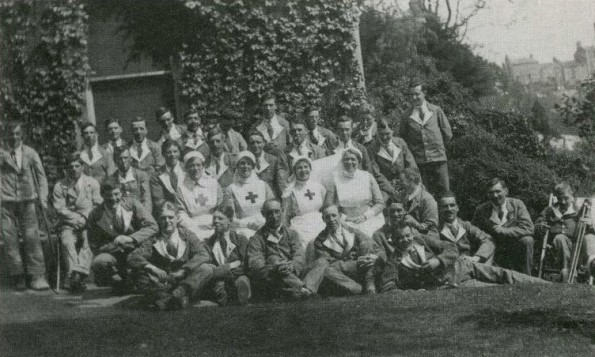 REHAB: Staff and patients at Richmond's Red Cross hospital in 1916