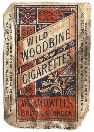 COMFORT: Every soldier needs something to light up - Abe's packet of woodbines