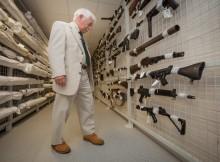 Examining the collection of weaponry held at Sevenhills in Spennymoor