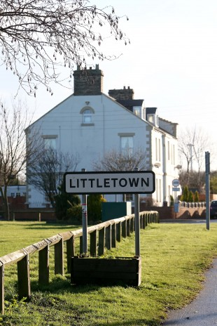 HOME: The mining village of Littletown, east of Durham City