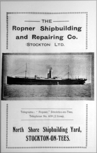SALES PITCH: A Ropner shipyard catalogue from 1924, shortly before the yard closed