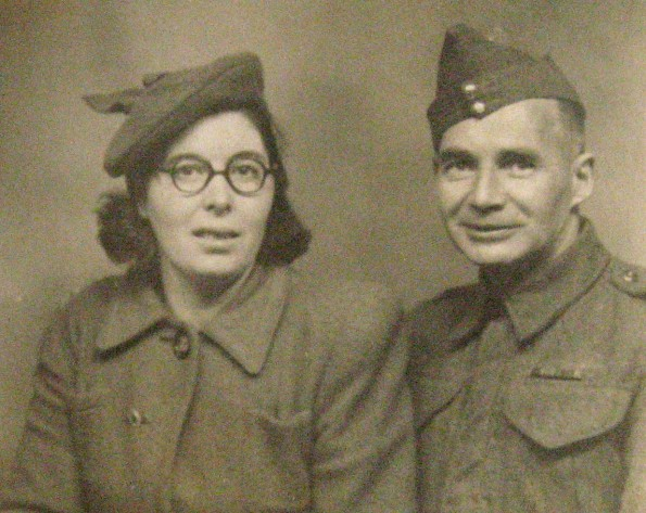 FAMILY LIFE: Private Cyril (Squib) Ramsdale and his wife Laura in 1943