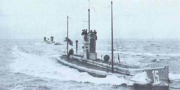 UP PERISCOPE: A German U-boat, like the one that sank the Maltby