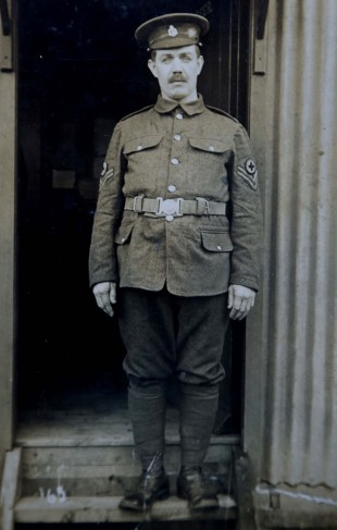 PROUD SERVICE: William James, George's father, who served in the Royal Army Medical Corps in the First World War
