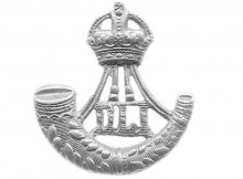 The famous badge of the Durham Light Infantry.