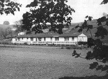 The wooden houses at Fairfield Acres originally housed the Birtley Belgians