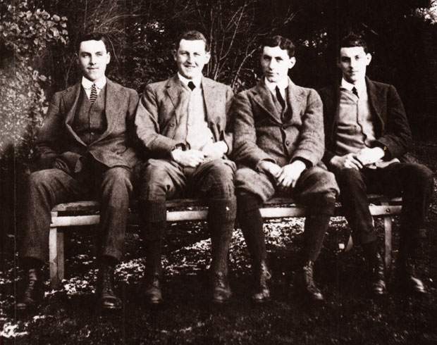 FAMILY BUSINESS: The Bradford brothers, Roland, Thomas, George and James at Milbanke in Milbank Road, Darlington, in 1914