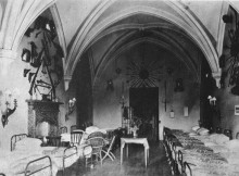 The Barons Hall in 1917 at Brancepeth Castle, when it was used as a hospital during the First World War