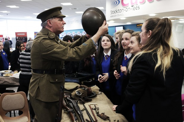 Trench warfare comes to life in Thornaby library   The ...
