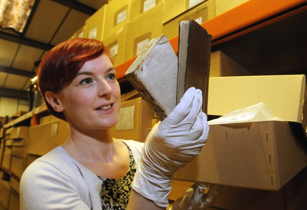 Katie Brown, the Assistant Curator of History for the York Museums Trust with the First World War diaries