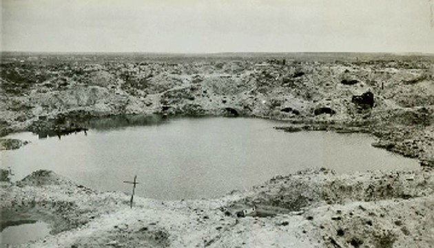 BATTLE GROUND: One of the craters at St Eloi
