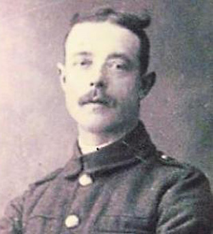 IN UNIFORM: Private George Walton at the start of the war