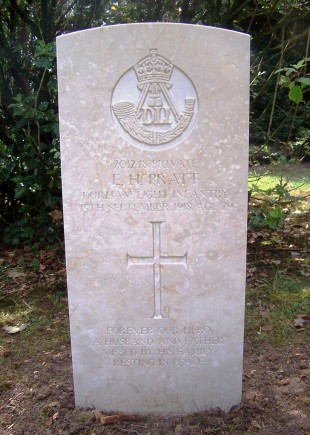 OFFICIALLY RECOGNISED: Private Pratt's new headstone in Darlington's West Cemetery