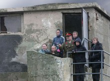 St John Vianney Primary School pupils learn about life on the Heugh Battery from volunteer Glenn Baume in 2005