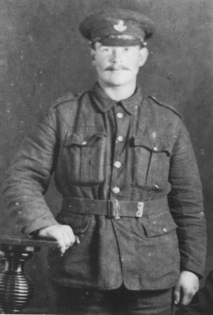 IN WARFARE: The last picture of Pte Newrick Curry taken while he was on leave immediately before he was killed 100 years ago