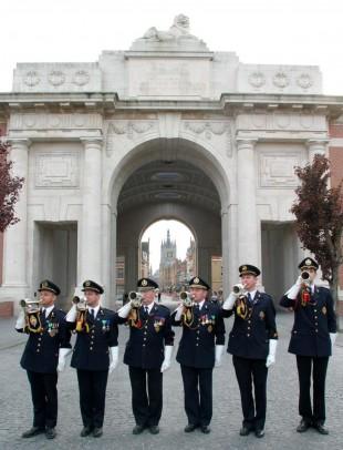 Buglers at Menin Gate, Ypres.