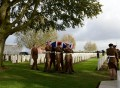 RE-INTERNMENT CEREMONY: Soldiers from 4 YORKS carry the body of an unknown soldier to his final resting place.
