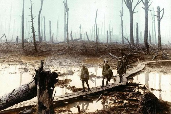 BRIMMING RIVULETS: The Passchendaele battlefield in which the 20th Durham Light Infantry was fighting 100 years ago