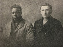 SURVIVORS: Two of the SS Belgian Prince survivors who were helped by the Sailors' Society