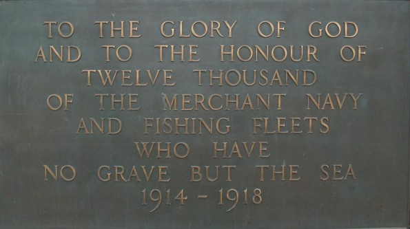 MEMORIAL: Tower Hill Memorial, in London, where the names of the dead sailors are listed