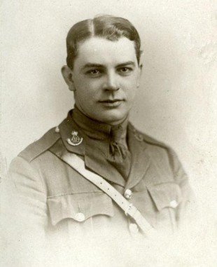 HEAD WOUND: Sgt TM Fletcher, killed at the Battle of Passchendaele. Picture courtesy of the Durham County Record Office