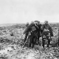 MEN AND MUD: Helping a wounded comrade at Passchendaele in the late summer of 1917